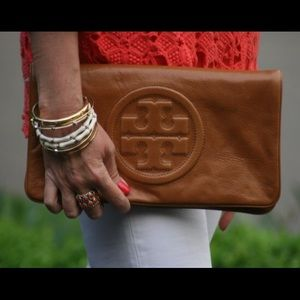 Tory Burch Reva Clutch Brown / Luggage / Tan